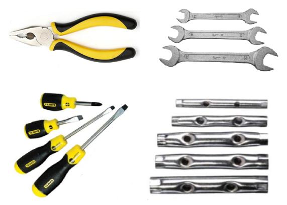 Набор инструментов для ремонта машинки