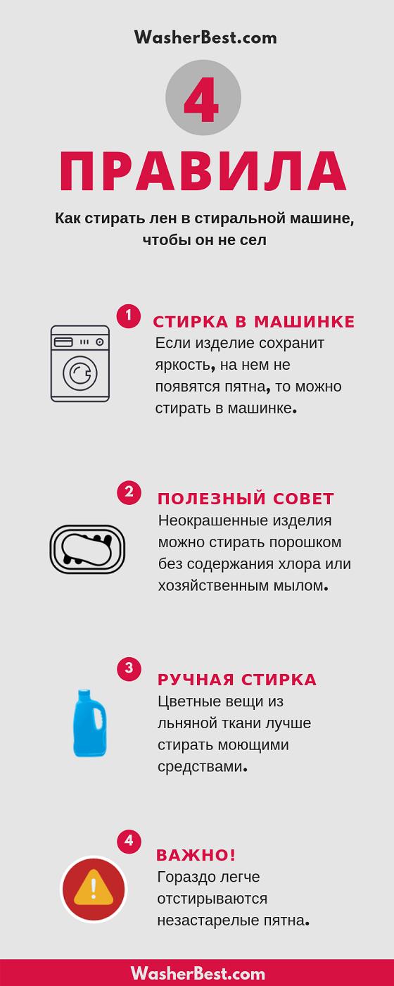Как стирать льняные вещи в стиральной машине