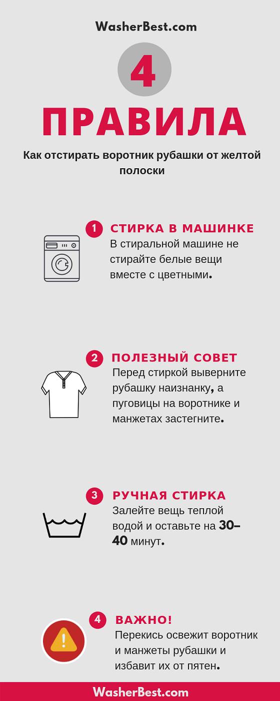 Как отбелить воротник у белой рубашки в домашних условиях