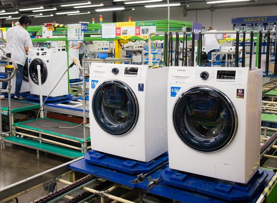 сборка стиральных машин на заводе самсунг