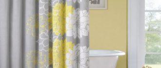 Как постирать шторку для ванной от желтизны
