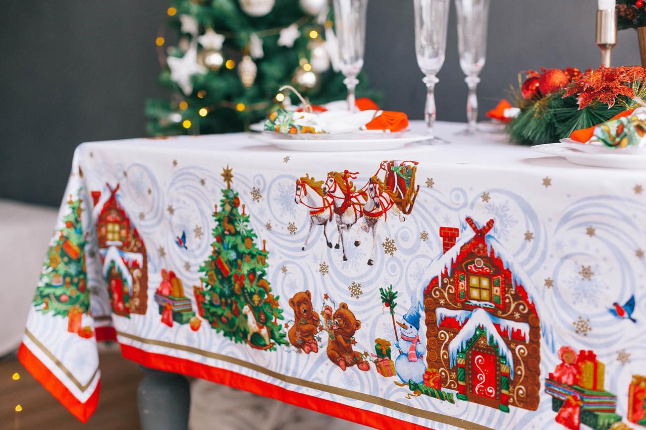 Новогодняя скатерть самая красивая которая есть в продаже