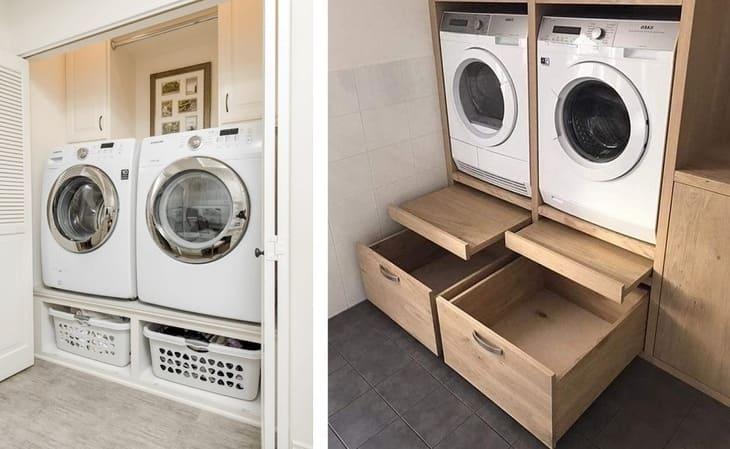 Варианты поднятия стиральной машины над полом